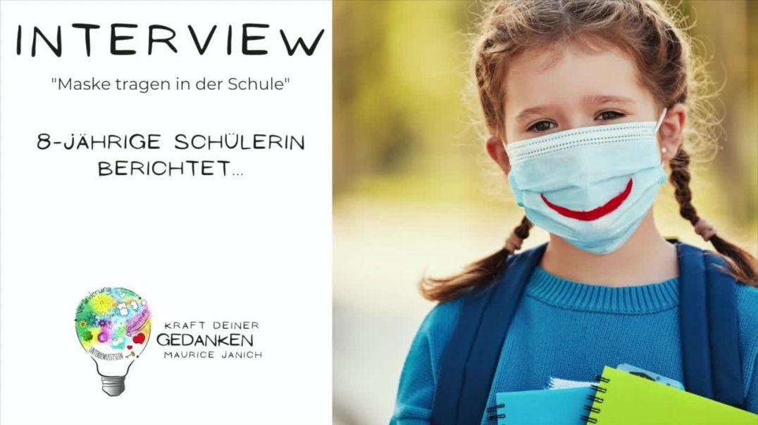 """Interview mit der 8-jährigen Schülerin Leonie """"Maske tragen in der Schule"""""""
