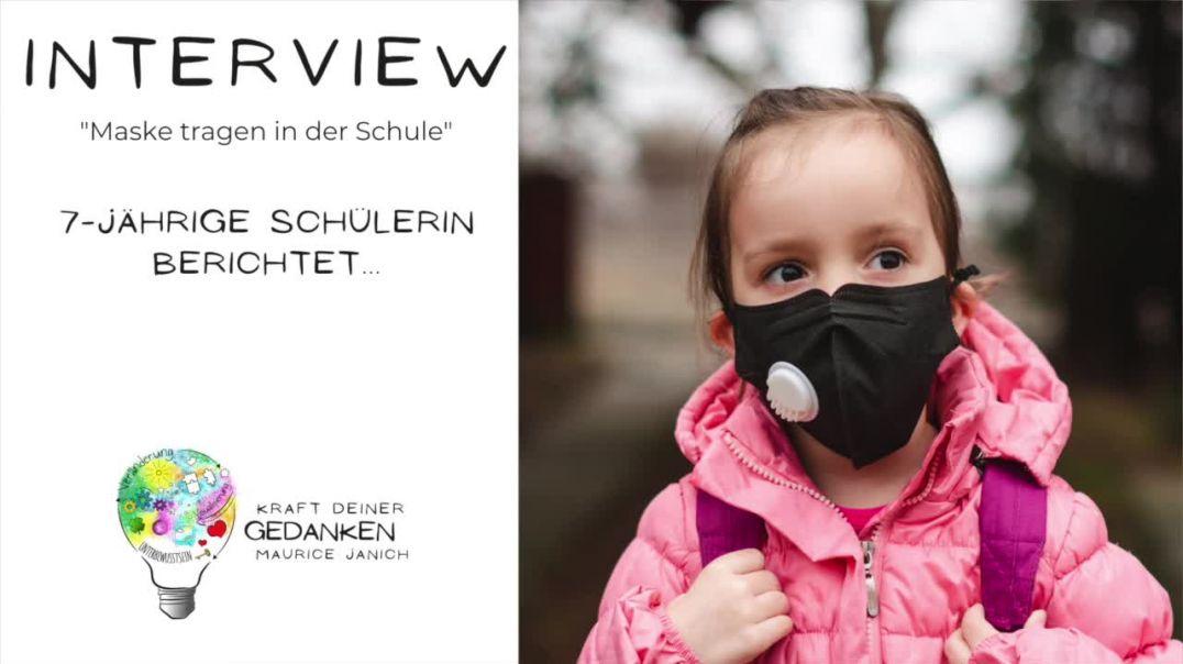 """Interview mit der 7-jährigen Schülerin Celine """"Maske tragen in der Schule"""""""