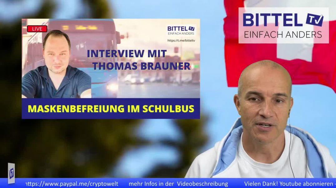Maskenbefreiung im Schulbus - Interview mit Thomas Brauner