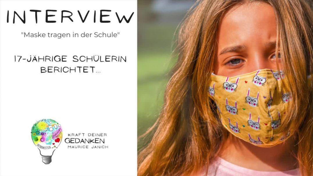 """Interview mit der 17-jährigen Schülerin Marie """"Maske tragen in der Schule"""""""