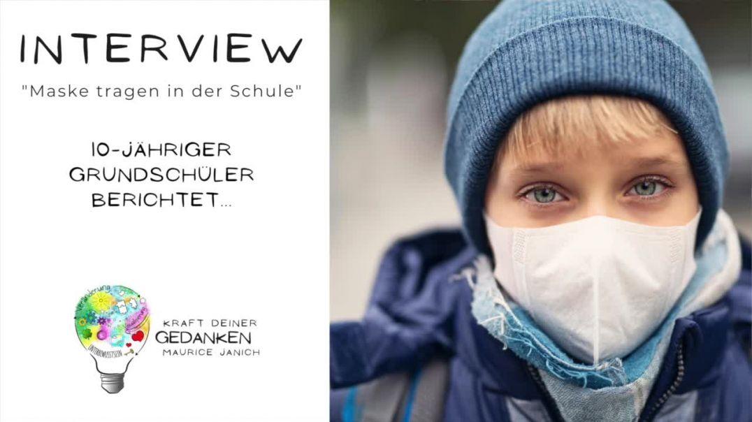 """Interview mit dem 10-jährigen Schüler Nick """"Maske tragen in der Schule"""""""