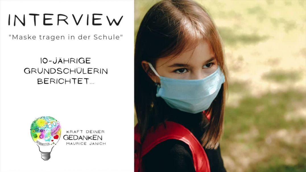 """Interview mit der 10-jährigen Schülerin Julia """"Maske tragen in der Schule"""""""