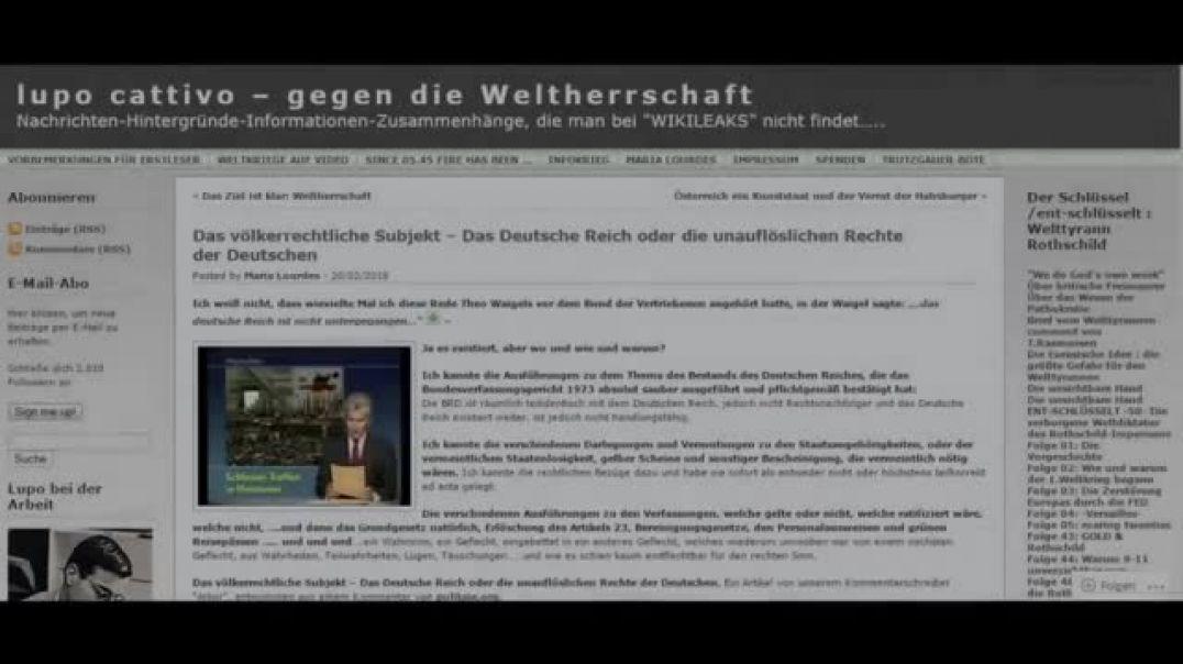 Völkerrechtliches Subjekt das Deutsche Reich und die unauflöslichen Rechte der Deutschen ! (360p)