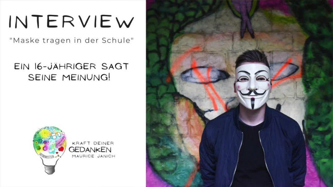 """Interview mit dem 16-jährigen Nico """"Maske tragen in der Schule"""""""
