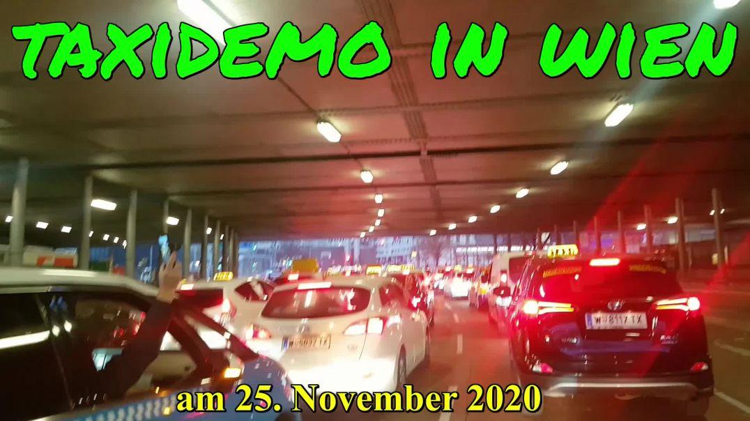 2020-11-25-Taxi Demo in Wien
