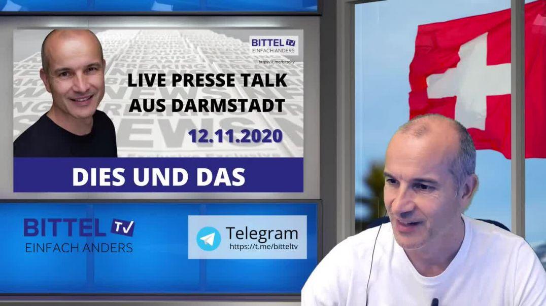 Live - Dies und Das - 12.11.2020 - Presse Talk aus Darmstadt