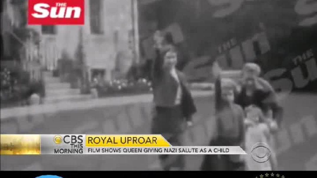 Der Film zeigt, wie Königin Elizabeth als Kind, den Nazi-Gruß ausübt ⁉️