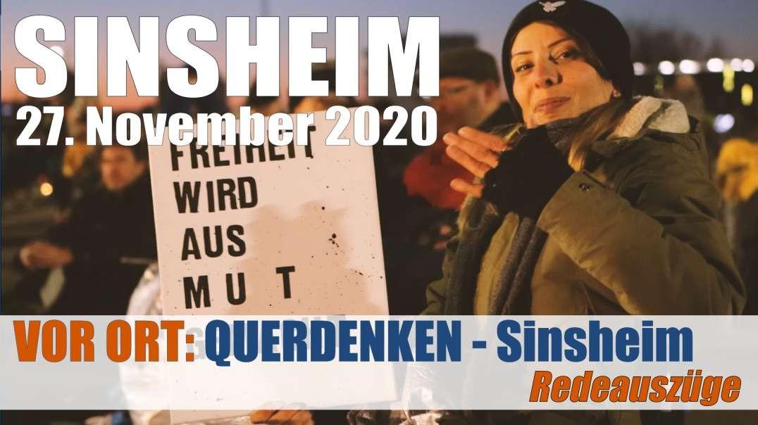 VOR ORT - Impressionen: QUERDENKEN Sinsheim - 'Ich halte es für meine Pflicht dabei zu sein