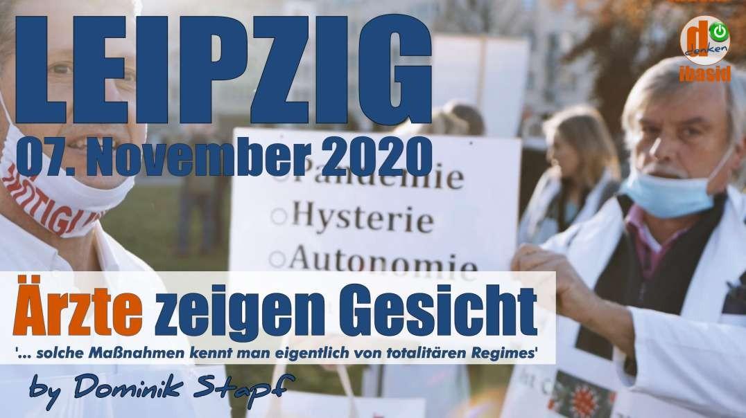 Leipzig, 07.11.2020:Ärzte zeigen Gesicht: Das erinnert an totalitäre Regimes