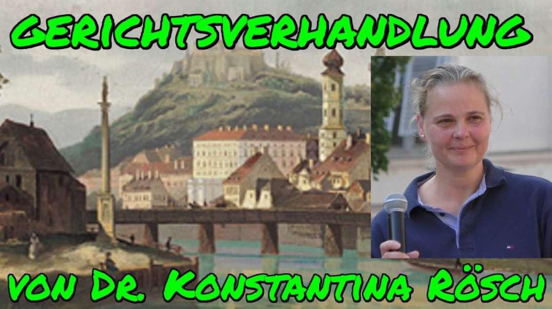 Dr. Konstantia RÖSCH: Gerichtsverhandlung am 30. November 2020 in Graz