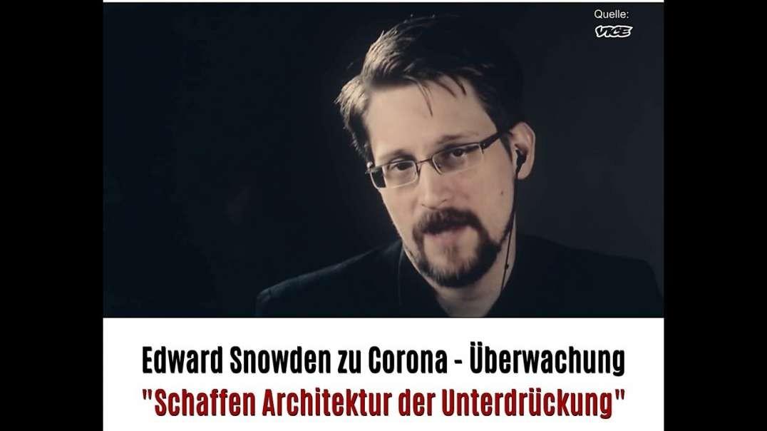 Corona Panikmache...? 11 - Edward Snowden zu Corona-Überwachung