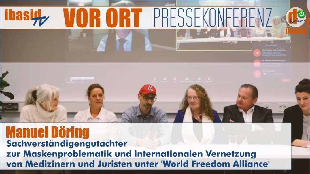 VOR ORT: Pressekonferenz Vorstellung 'World Freedom Alliance' und Maskenproblematik (engli