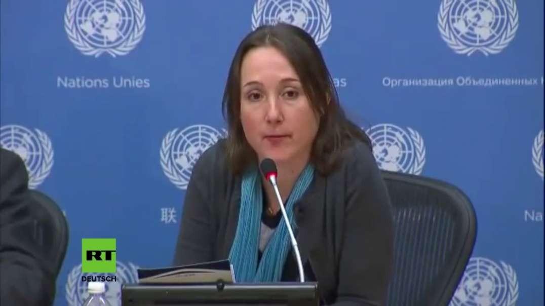 Journalistin zerlegt in den UN in 2 Minuten die Glaubwürdigkeit der Mainstream-Presse zu Syrien