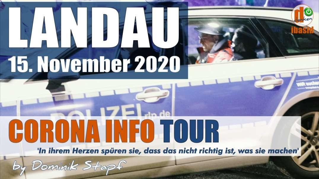 VOR ORT: Bodo Schiffmann und das blaue Taxi - Landau Corona Info Tour nicht genehmigt
