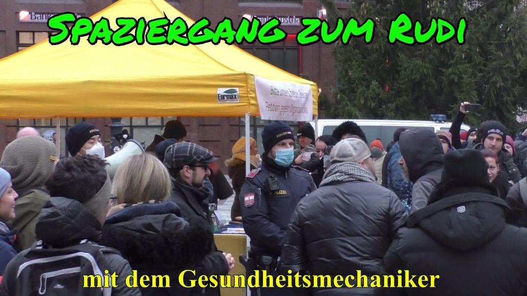 WIR WOLLEN KEINE DIKTATUR! - Spaziergang zum Rudi am 19.12.2020 in Wien