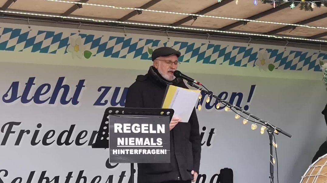 Querdenken Demo Rosenheim Rede Religionslehrer 20.12.20
