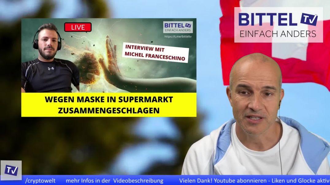 LIVE - wegen Maske in Supermarkt zusammengeschlagen - Interview mit Michel Franceschino