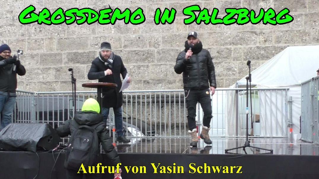 GROSSDEMO SALZBURG am 13.12.2020: Aufruf von Yasin Schwarz an die Gastronomen
