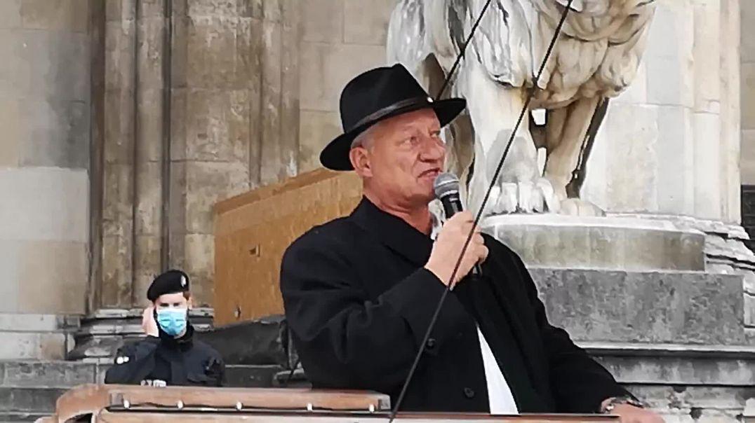 Karl Hilz: Ganze Rede Teil 3/3 Querdenken Demo München 23.10.20