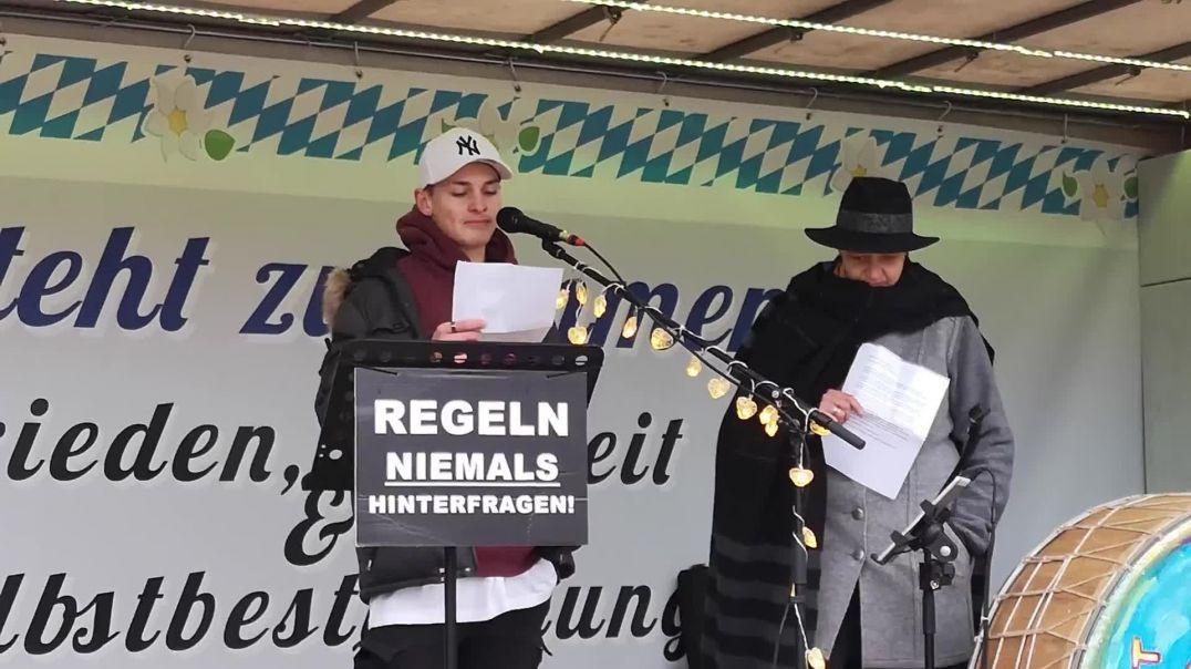 Querdenken Demo Rosenheim Gehirnwäsche und George Orwell 1984 20.12.20