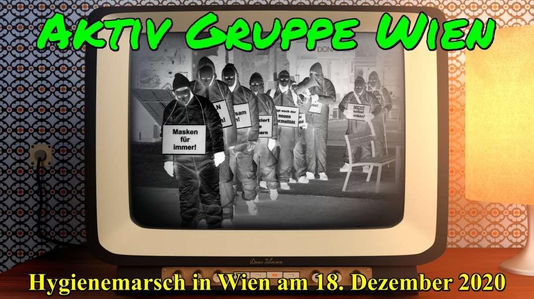 AKTIV GRUPPE WIEN: Hygienemarsch in Wien am 18. Dezember 2020 - SPEZIALVIDEO (#Schwarze Wahrheit)