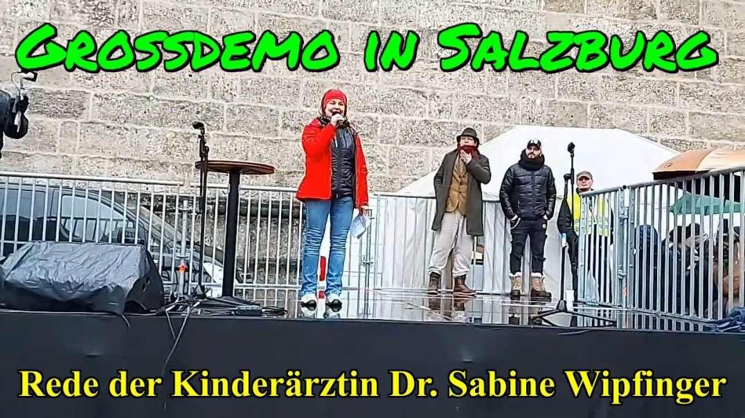 Rede der Kinderärztin Dr Sabine Wipfinger: GROSSDEMO SALZBURG am 13.12.2020