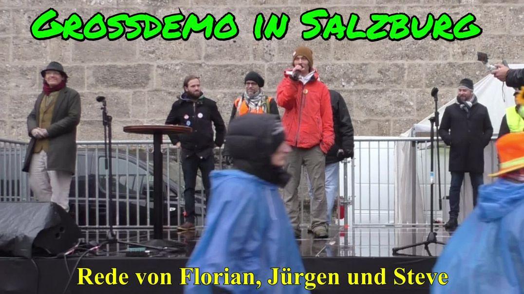 GROSSDEMO SALZBURG am 13.12.2020: Rede von Florian, Jürgen und Steve von FestLinz