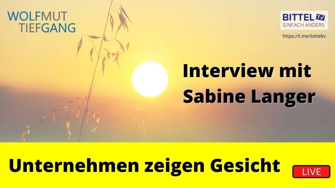 Unternehmen zeigen Gesicht - Wolfmut Tiefgang im Gespräch mit Sabine Langer