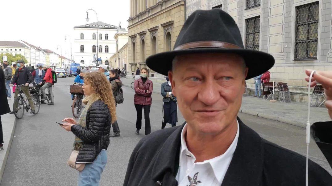 Karl Hilz: Bevor Sie mich einsperren oder gar umbringen - Nach Rede Querdenken München 23.10.20