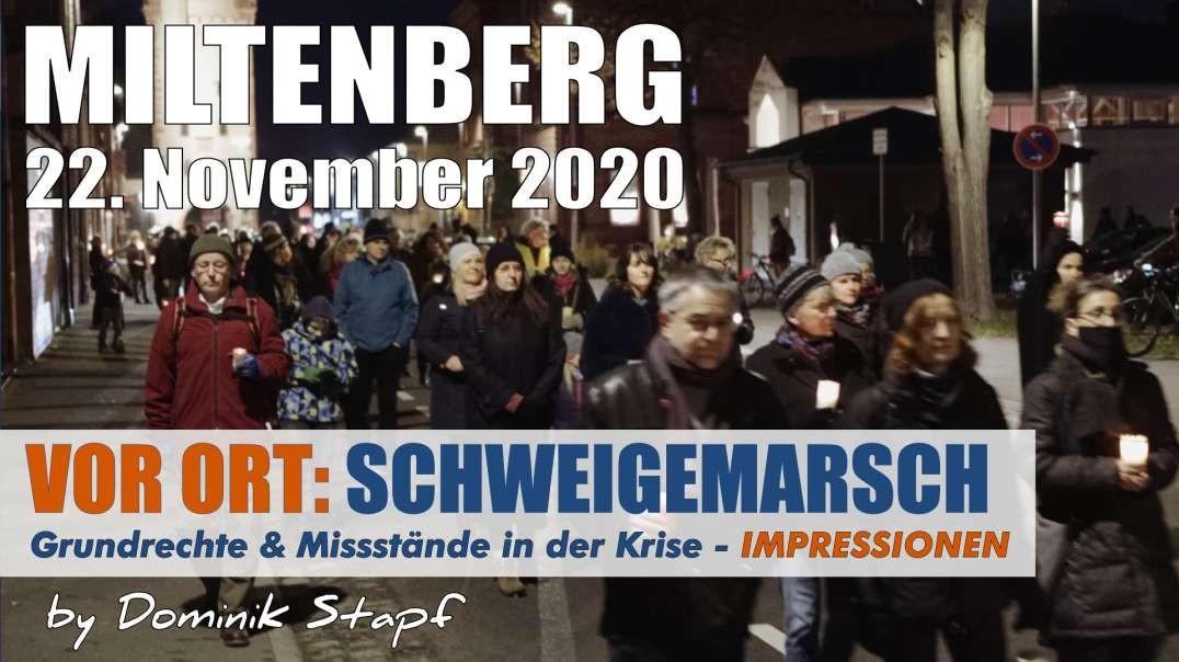 VOR ORT: Impressionen - Schweigemarsch Miltenberg, 22.11.2020 - Gegen Missstände der Krise