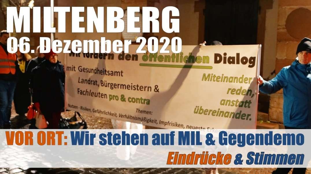 Auszüge & Stimmen: 06.12.2020 Miltenberg - Wir laufen für unsere Freiheit - Gegendemo: Miteinand