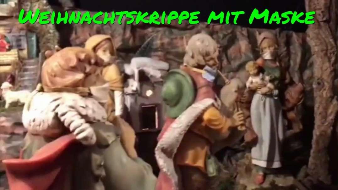 WEIHNACHTSKRIPPE MIT MASKE