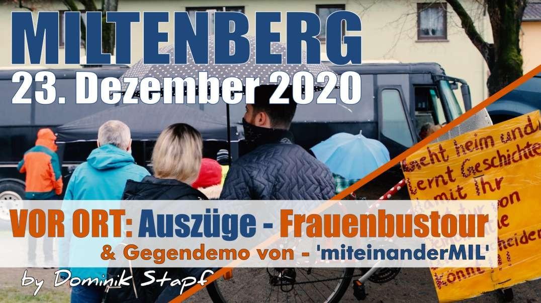 VOR ORT: Auszüge - 23.12.2020 Miltenberg Frauentourbus & Gegendemo 'miteinanderMIL'