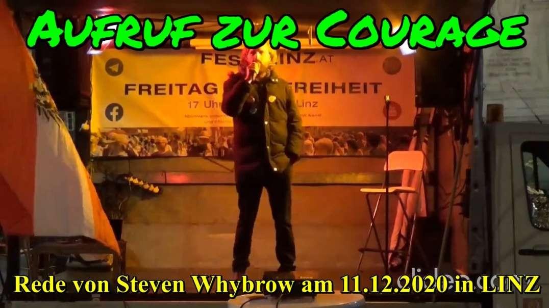 AUFRUF ZUR COURAGE: Rede von Steven Whybrow am 11.12.2020