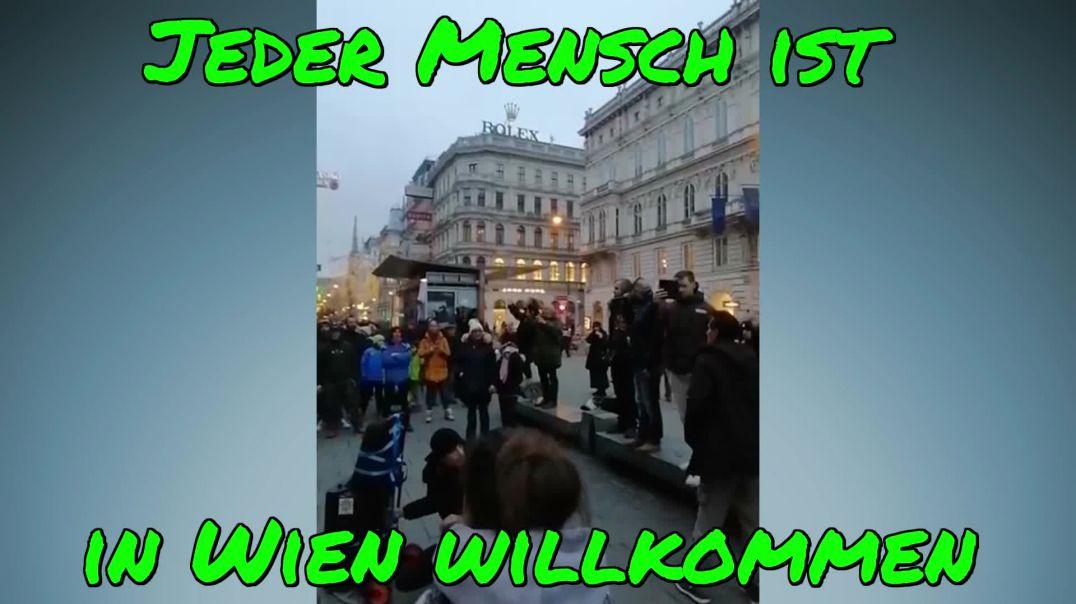 JEDER MENSCH IST IN WIEN WILLKOMMEN: Rede von YASIN vor der Wiener Oper am 3.1.2021