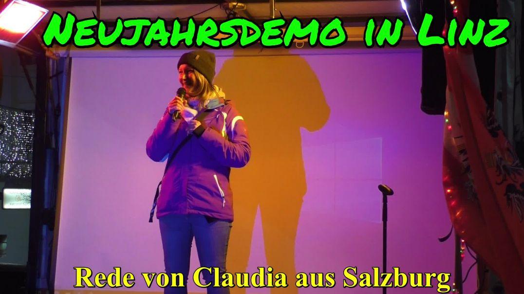 NEUJAHRSDEMO LINZ: Rede von Claudia aus Salzburg