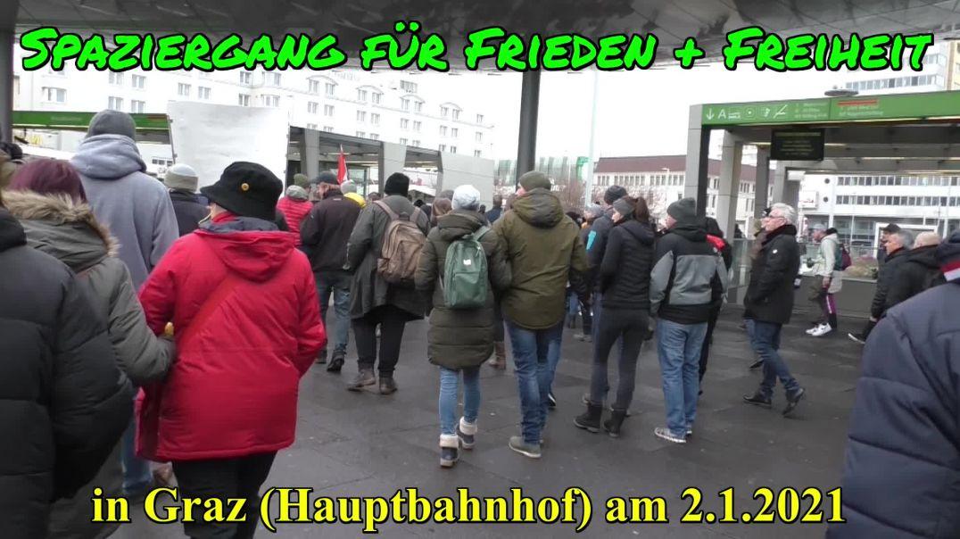 GRAZ: SPAZIERGANG für Frieden & Freiheit am 2.1.2021 (beginnend vom Hauptbahnhof)