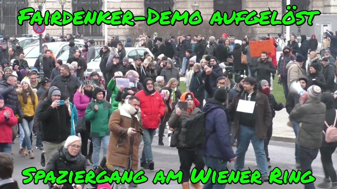 WIEN-DEMO von POLIZEI AUFGELÖST: Spaziergang auf der Wiener Ringstraße am 3.1.2021