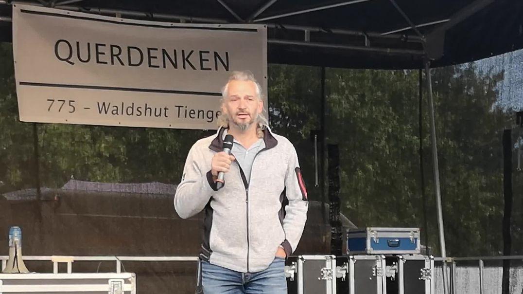 Arzt Rolf Kron zu Maskenattest und Repressalien Konstanz Demo Querdenken Rede 04.10.20
