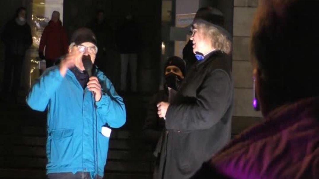 Disco-Demo in Stuttgart am 6. Januar 2021