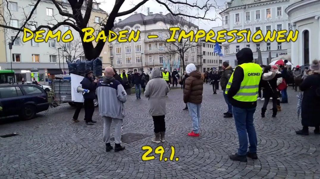 BADEN (NÖ): SPAZIERGANG für FRIEDEN, FREIHEIT und SOLIDARITÄT am 29. Jänner 2021
