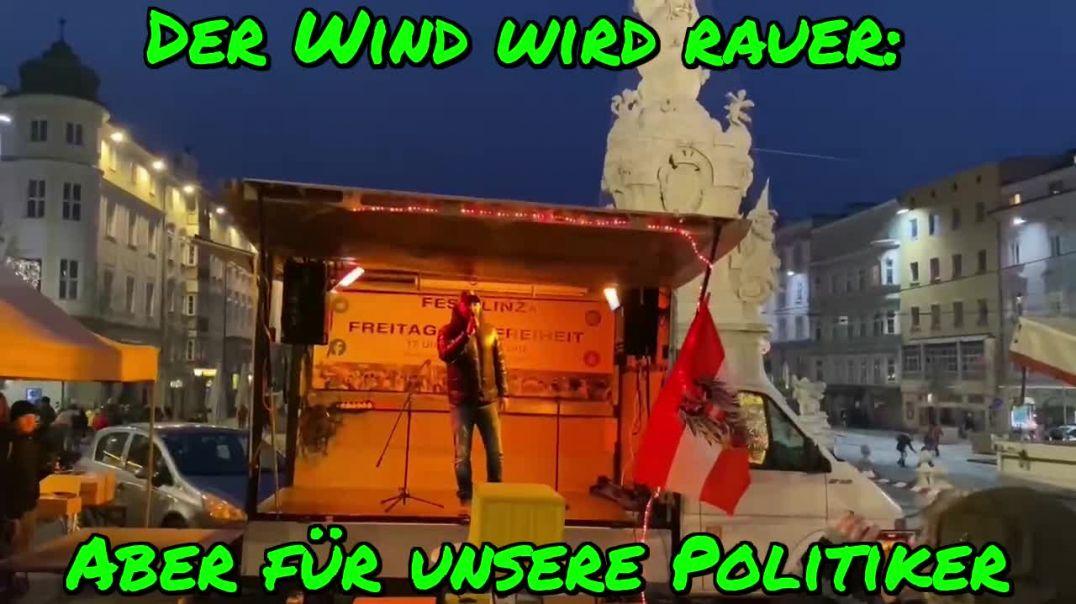 NEUJAHRSDEMO LINZ: Rede von YASIN/Die Stimme der Straße: Der Wind wird rauer, aber für die Politiker