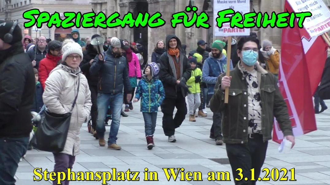 SPAZIERGANG FÜR FREIHEIT  in WIEN am 3. Jänner 2021