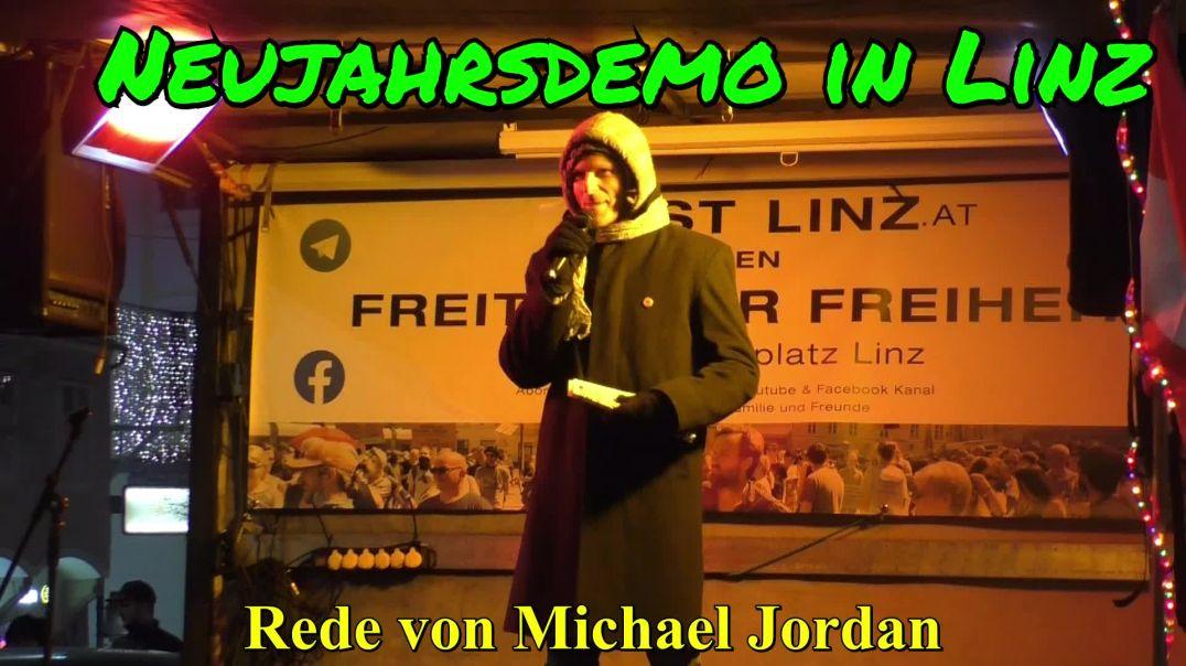 NEUJAHRSDEMO LINZ: Rede von Michael Jordan