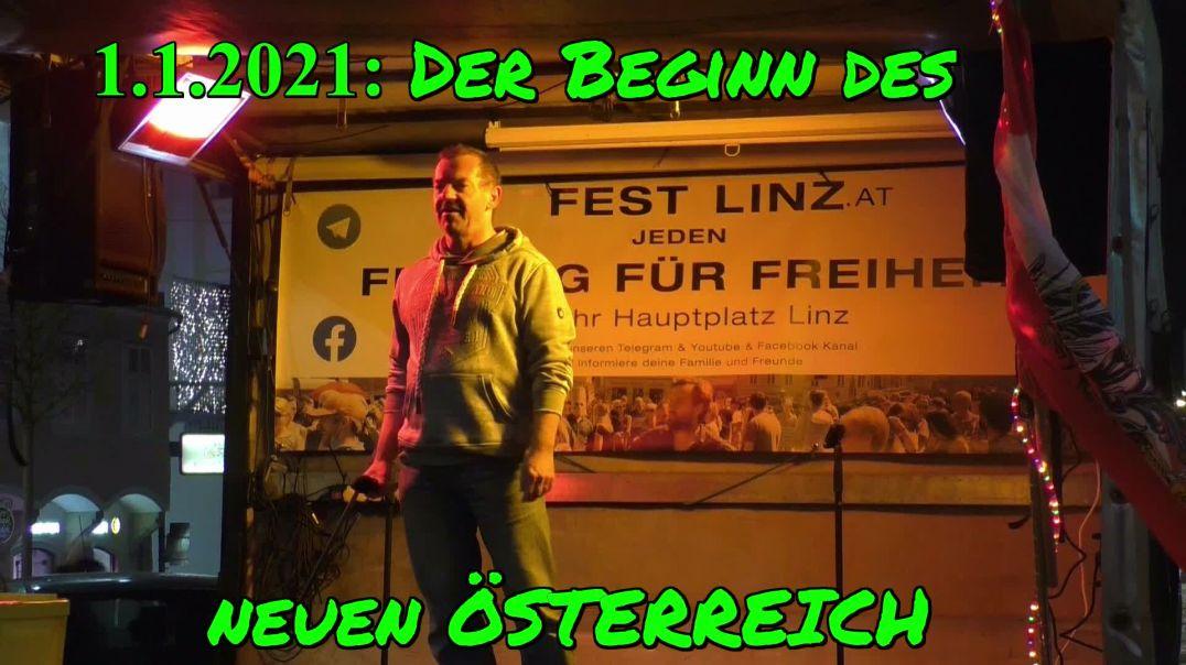 1.1.2021: DER BEGINN DES NEUEN ÖSTERREICH: Rede von Walter bei der NEUJAHRSDEMO LINZ