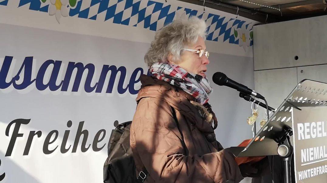 Was ist aus dieser Polizei geworden Demo Solidarität für Rolf Kron FFB 15.01.21