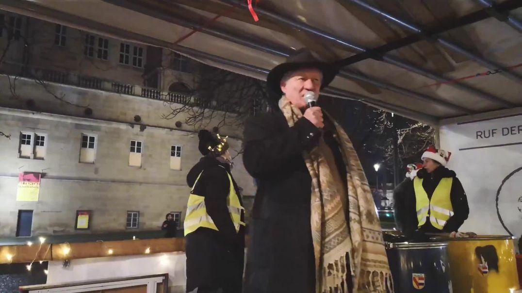 Karl Hilz Stuttgart Karlsplatz 2. Silvester Demo 31.12.20