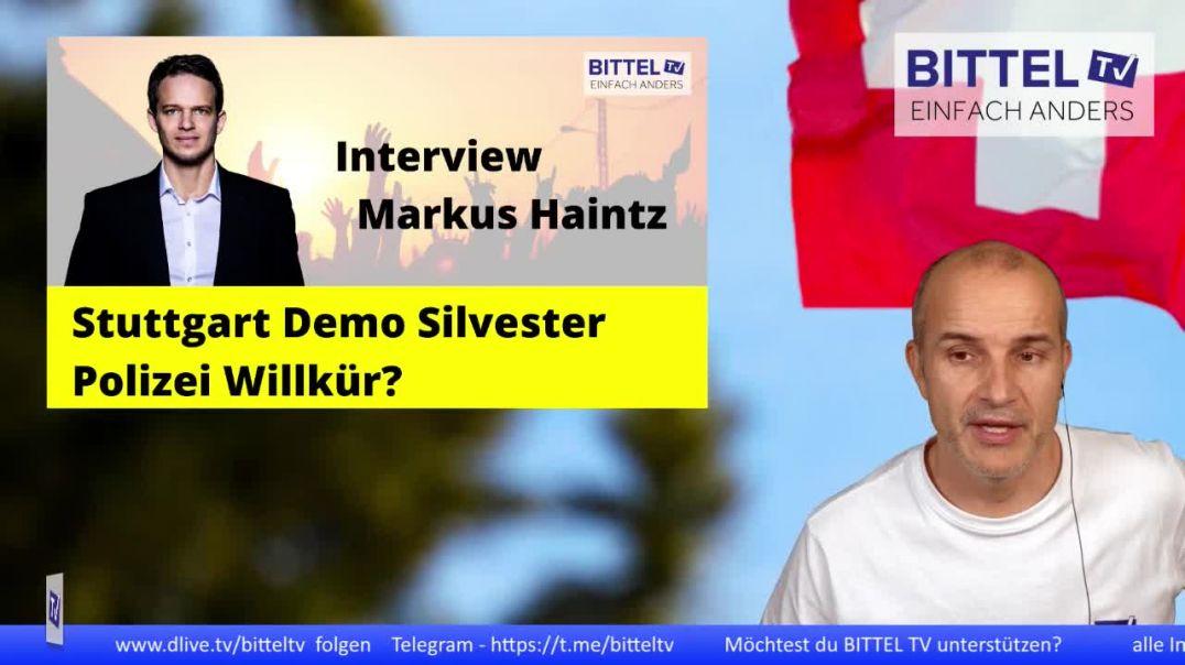 LIVE - Interview mit Markus Haintz - Stuttgart Demo Silvester - Polizei Willkür?