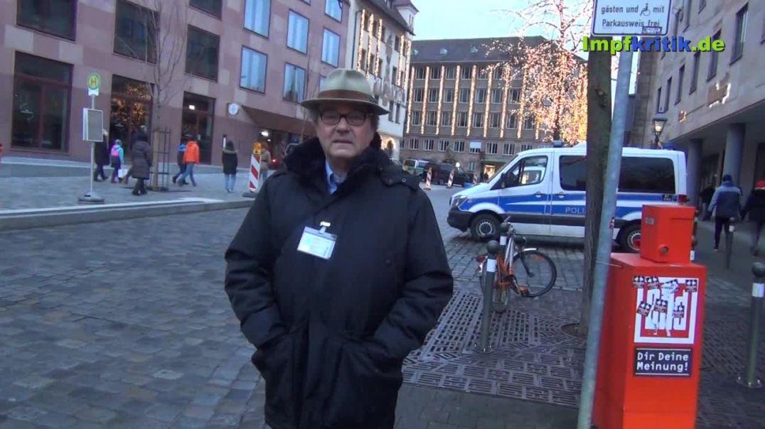 Grundrechte-Demo am 3. Januar 2021 in Nürnberg u. a. mit Markus Haintz, Florien Kuhn und Karl Hilt.