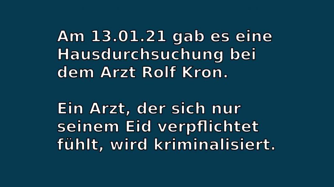 Hausdurchsuchung bei dem Arzt Rolf Kron Kaufering 13.01.21